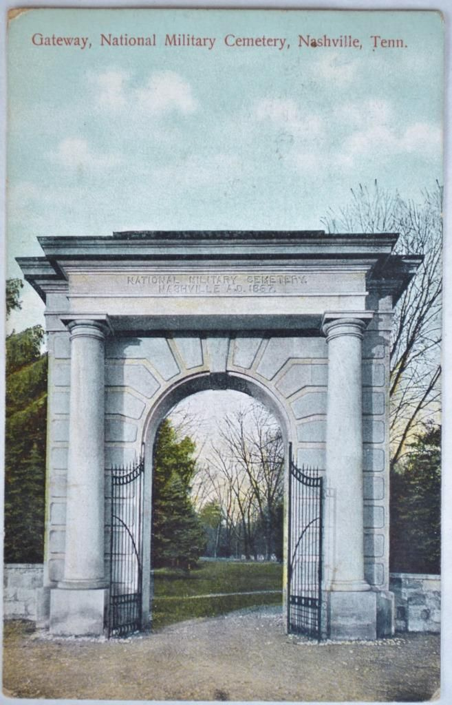 Antique 1909 Gateway National Military Cemetery Postcard Nashville TN Tennessee   eBay