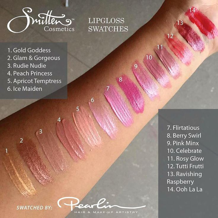 Amazing Gloss Variety from Smitten Cosmetics...come with a light and mirror in the case!