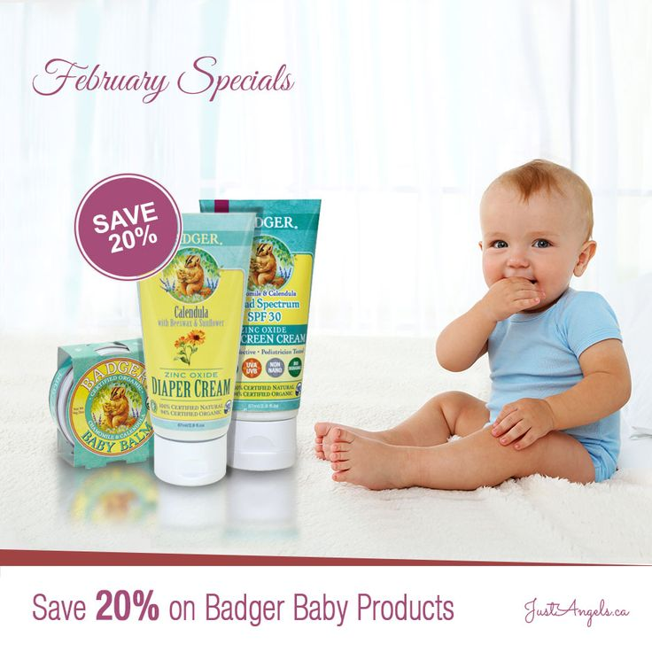 Save 20% on Badger Baby products till February 29th, 2016.
