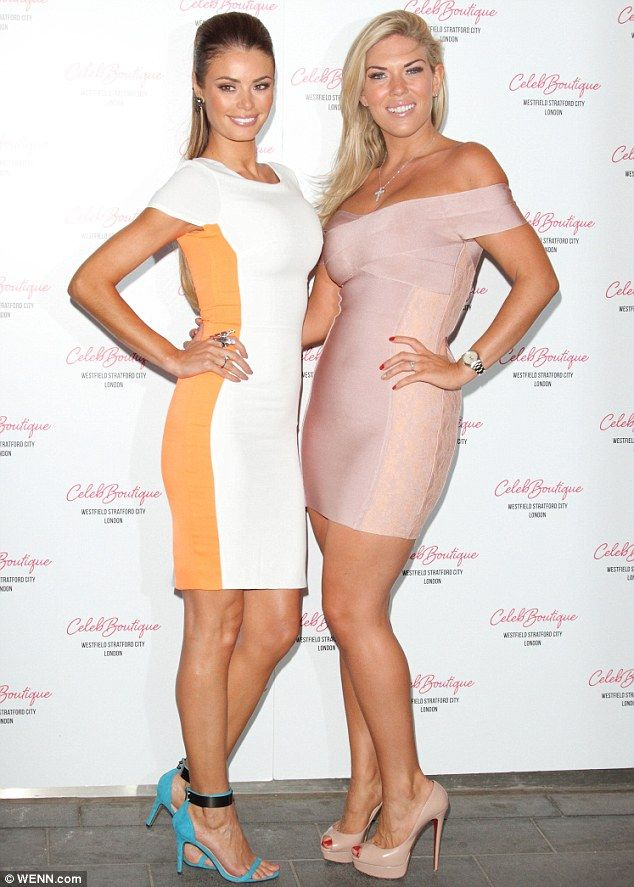 Working it: The Only Way Is Essex stars Chloe Sims and Frankie Essex arrive at the CelebBoutique store launch in Westfield Stratford on Thursday