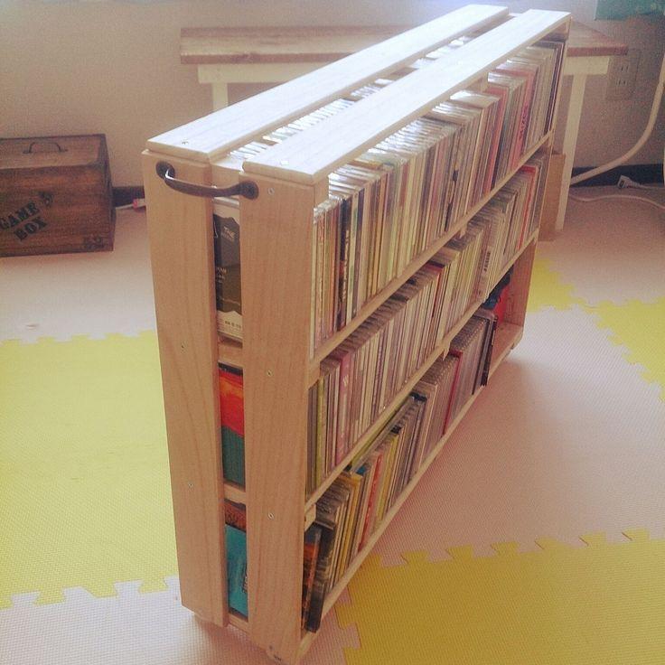押し入れ収納/すきま収納/CD収納/なんとかしたい/セリア/すのこ棚DIY…などのインテリア実例 - 2016-07-14 11:07:52 | RoomClip(ルームクリップ)