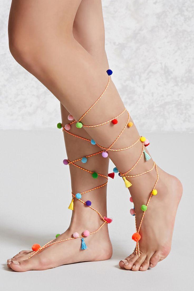 Pom-Pom Foot Chain Set