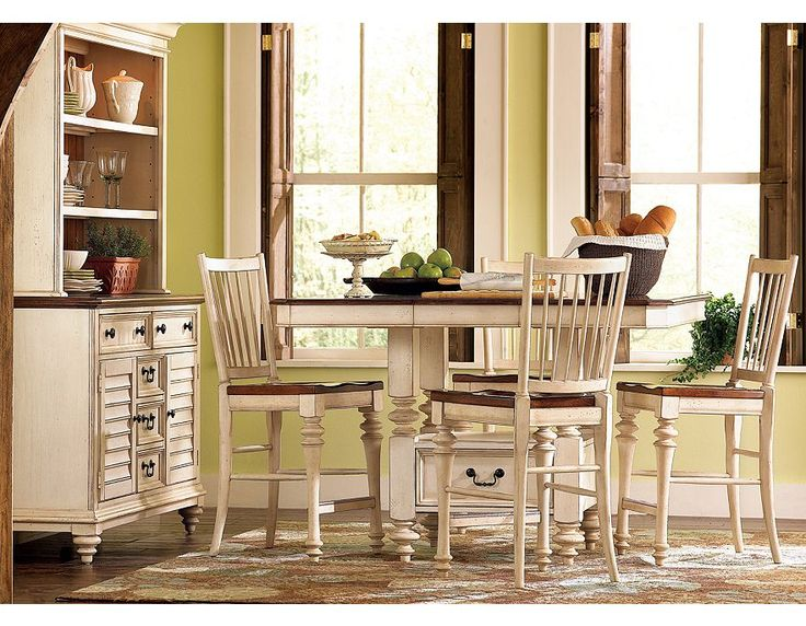 Dining Room Set Weathered White Havertys