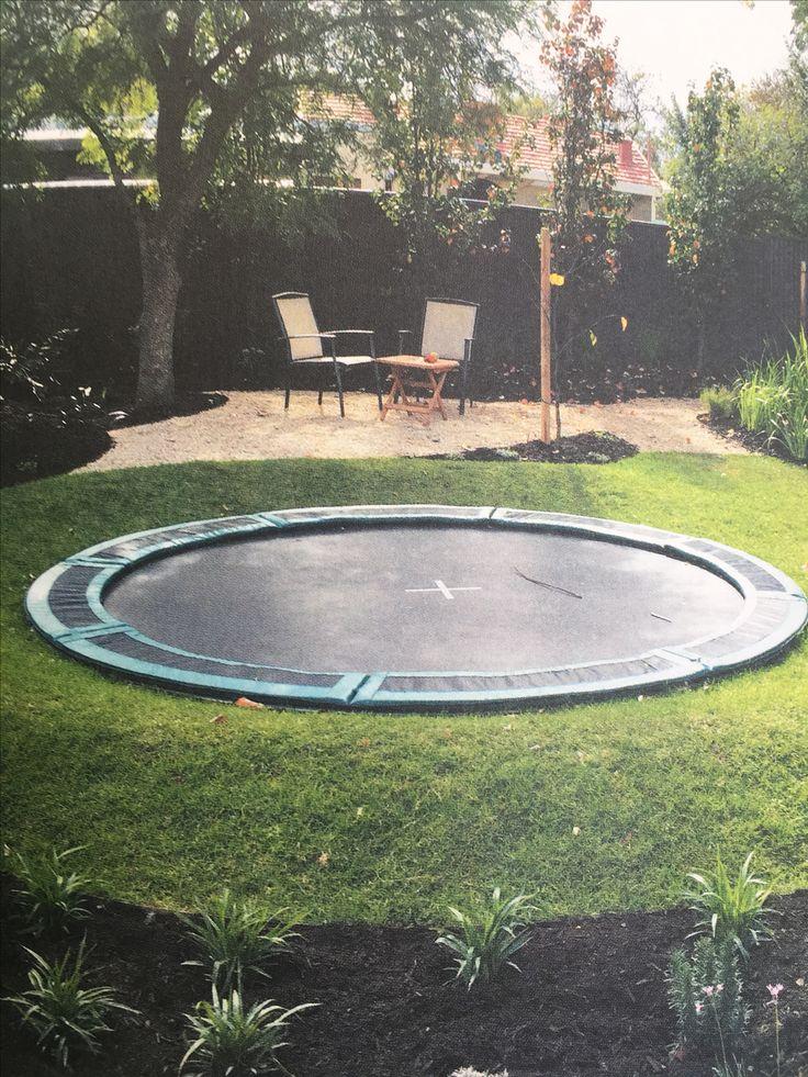 Oz trampolines in ground trampoline