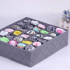 30 ячеек бамбукового угля связывает носки ящик шкафа устроитель коробка для хранения HT
