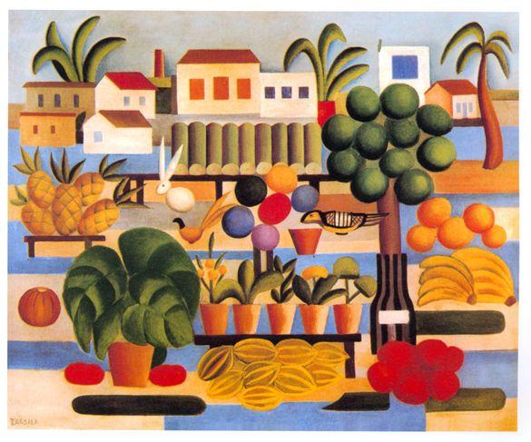 A Feira I, Pintura de Tarsila do Amaral, 1924.