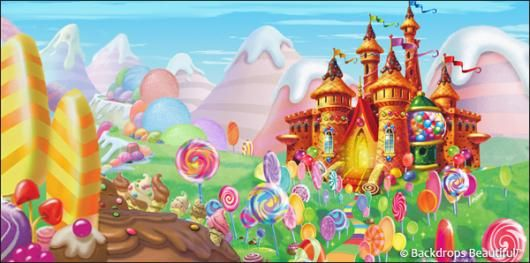 Backdrops Candyland 10 Castle Puppets And Toy Theatres