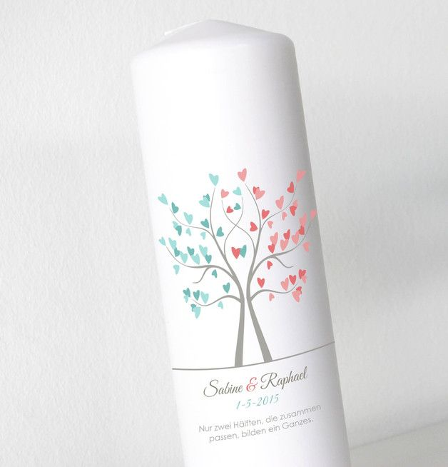 Hochzeitsdeko - Hochzeitskerze - Liebenbaum2 - Neu ohne Folie - ein Designerstück von printsonalities bei DaWanda