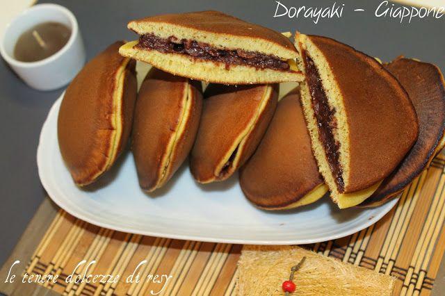 le tenere dolcezze di resy: Dorayaki farciti con anko di fagioli azuki - i tradizionali wagashi giapponesi di Doraemon