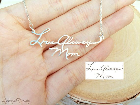 Handwriting Necklace Signature Necklace by MackenzieTreasury! ♡