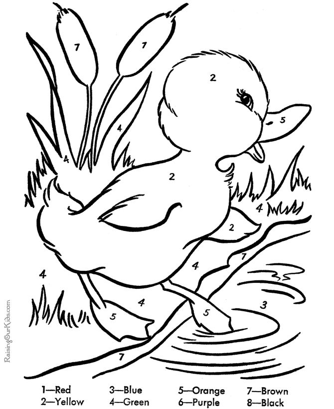 free duck coloring pages for easter