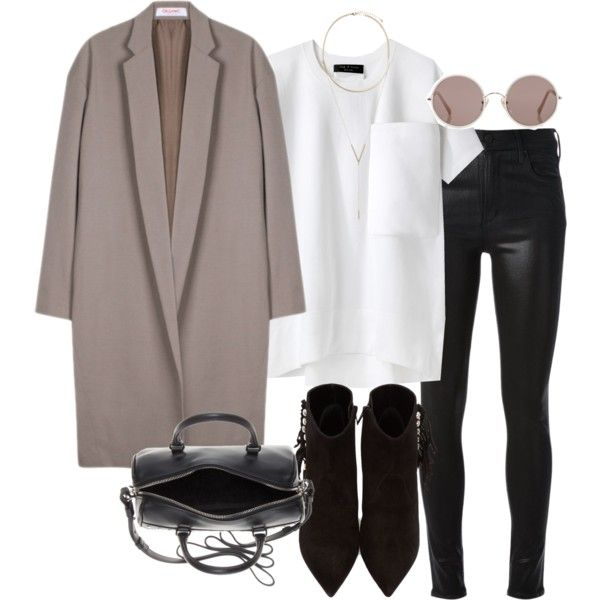 Sem título #4578 by lguimaraes on Polyvore featuring rag & bone, Organic by John Patrick, Citizens of Humanity, Yves Saint Laurent, BCBGeneration and Sunday Somewhere