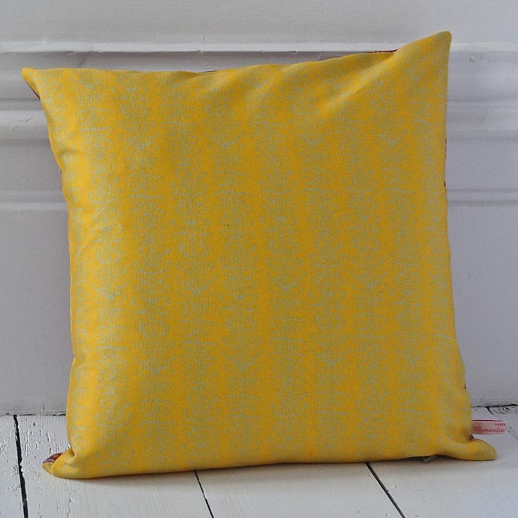Butterfly Cushion - Yellow {Available reversible or as a single print}