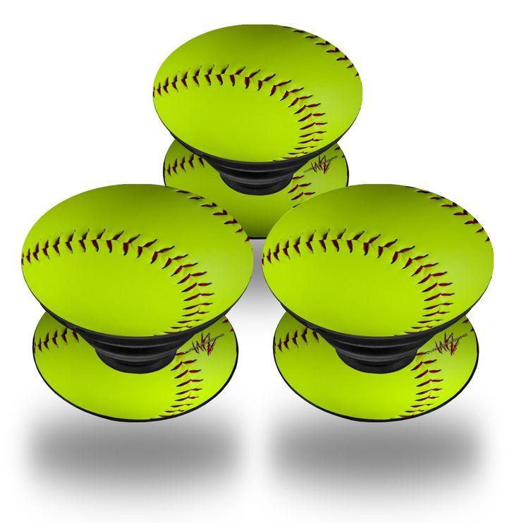 PopSockets Softball   WraptorSkinz