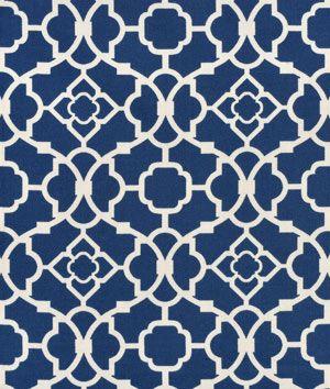 Shop Waverly Lovely Lattice Lapis Fabric at onlinefabricstore.net for $17.35/ Yard. Best Price & Service.
