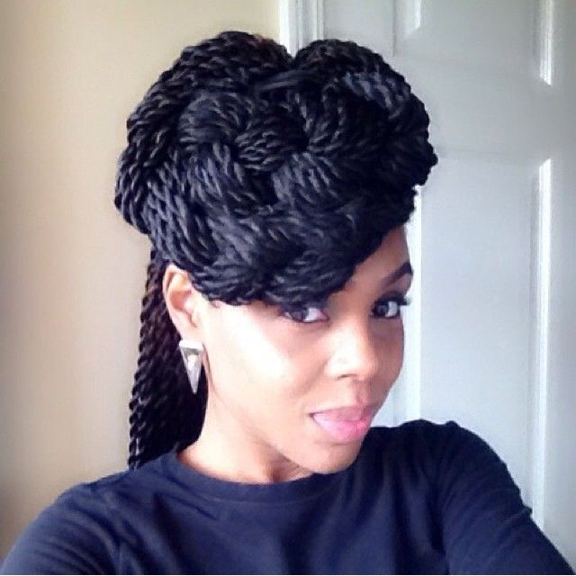 {Grow Lust Worthy Hair FASTER Naturally}        ========================== Go To:   www.HairTriggerr.com ==========================       This Senegalese Twist Front Bun Is SOOO Elegant!!!