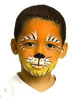 tiger facepaint for the halloween costume