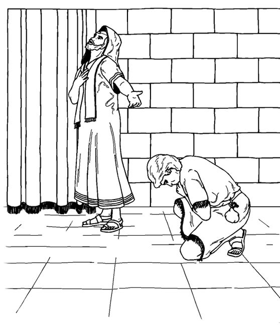 Publican And Pharisee Coloring Page