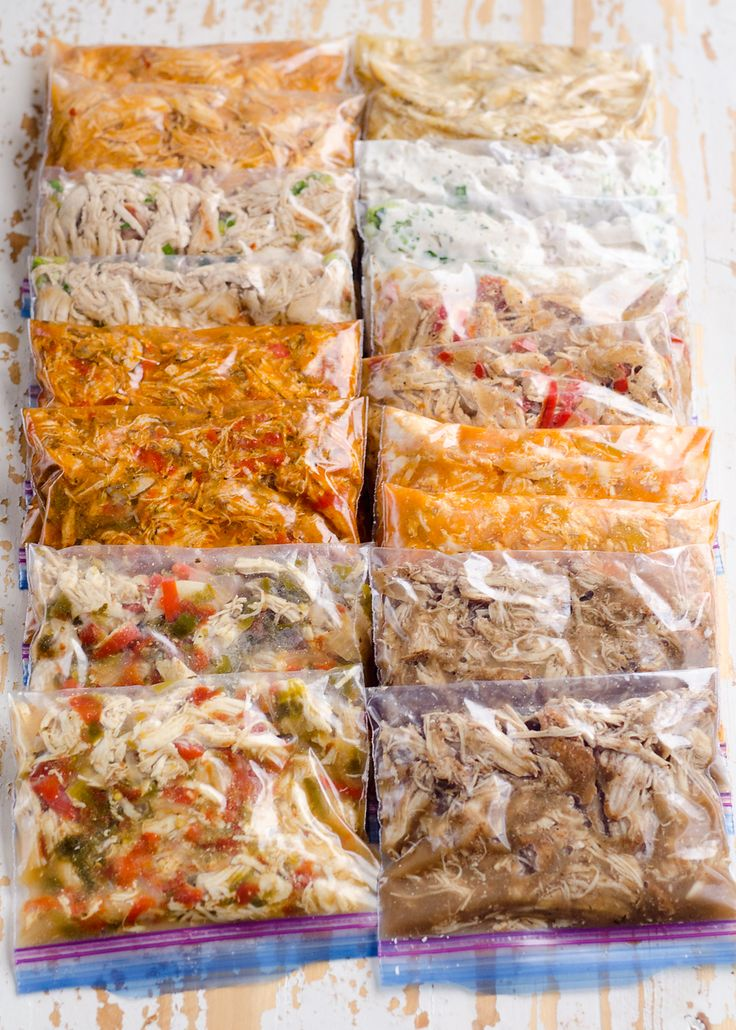 10 Healthy Chicken Recipes in a Pressure Cooker or Crock Pot for juicy shredded chicken with a variety of bold flavors for freezer friendly Instant Pot meals