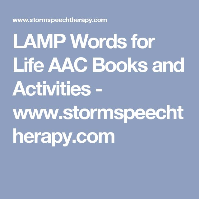 LAMP Words For Life AAC Books And Activities   Www.stormspeechtherapy.com