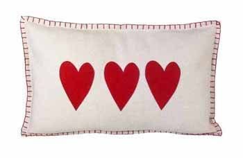 Eigen Interiors - Parlane Cream/Red Heart Rectangle Felt Cushion, £29.95 (http://www.eigeninteriors.co.uk/parlane-cream-red-heart-rectangle-felt-cushion/)