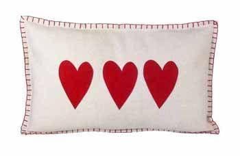 Eigen Interiors - Parlane Cream/Red Heart Rectangle Felt Cushion, £29.95 (http://www.eigeninteriors.co.uk/parlane-cream-red-heart-rectangle-felt-cushion/)