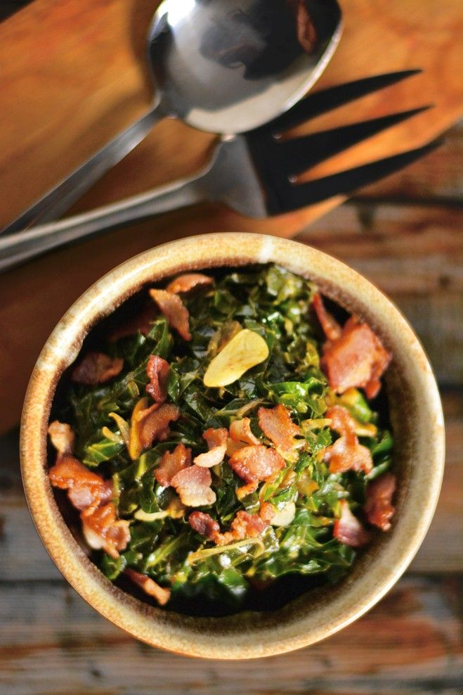 sautéed collard greens with bacon