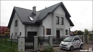 Znalezione obrazy dla zapytania biało-szara elewacja domu