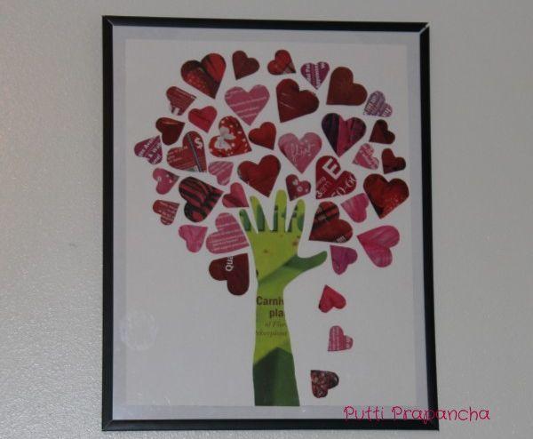 Valentine crafts using magazines | Crafts for Kids Blog » Tutorial: Magazine Tree of Hearts