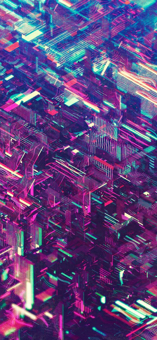 Atelier Olschinsky Neon Cities. | Abstract iphone ...