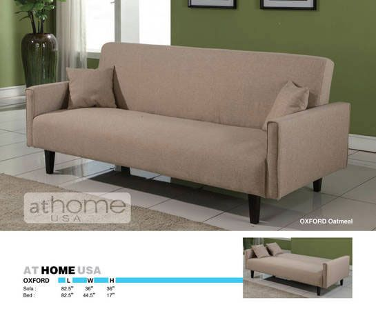 Sofa Covers Oxford Oatmeal Sofa Bed by At Home USA At Home USA