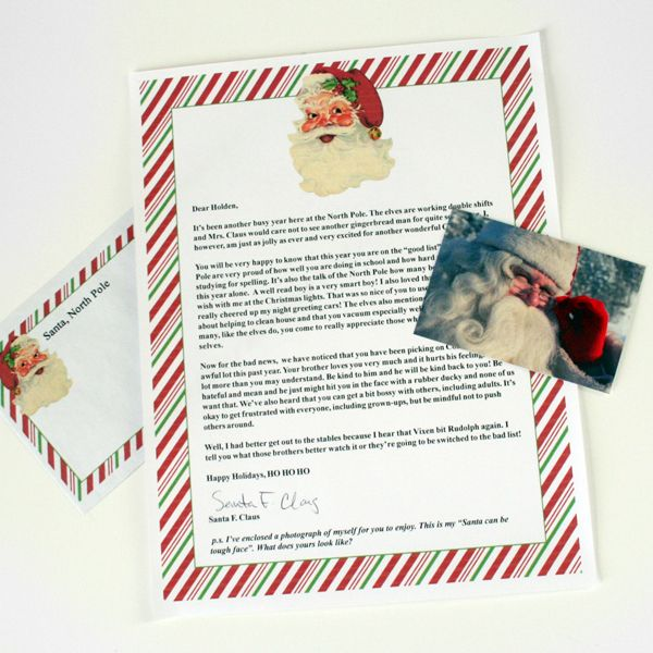... Bigger Craft & DIY Blog - - - Letters from Santa from the North Pole