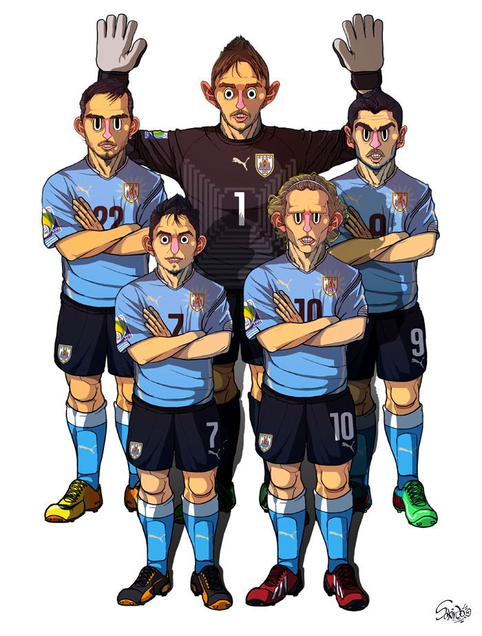 [2014  #WorldCup Edition] D team : Uruguay by sakiroo.deviantart.com on @deviantART