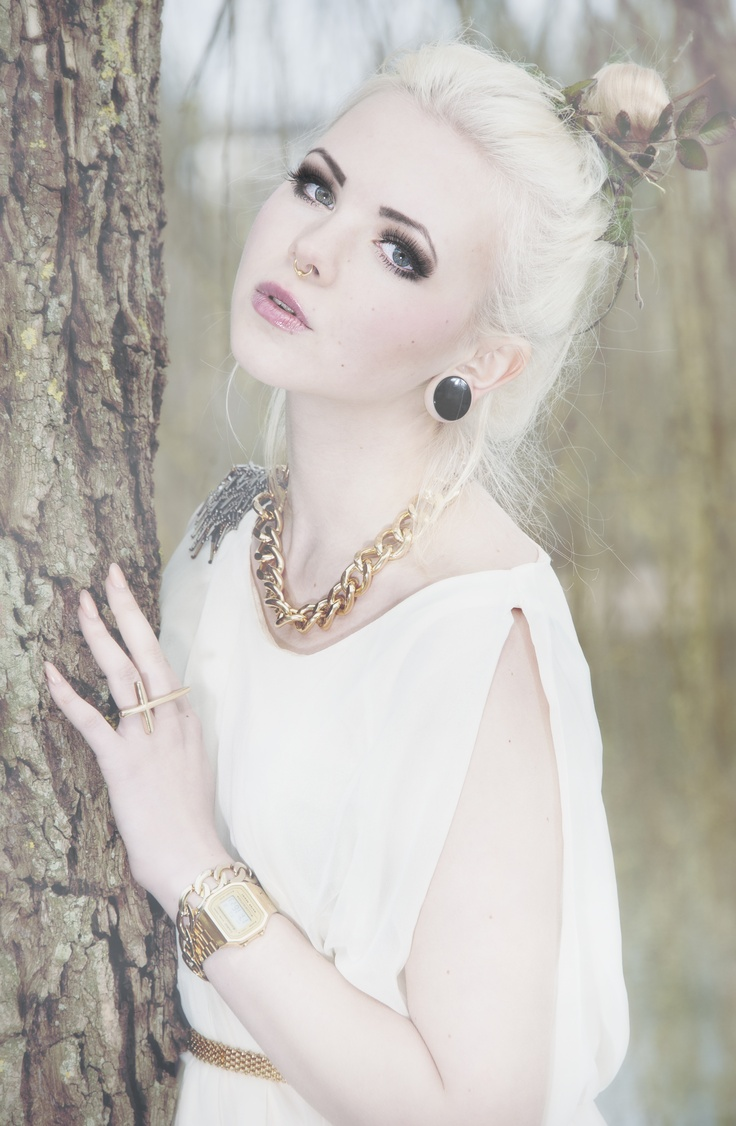 Fashion Photography Me As Model White Hair Gold Jewellery