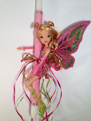 Option 1: Winx Butterfly Doll Easter Candle - Pink