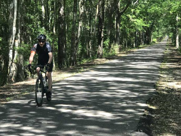 Jacksonville Baldwin Bike Trail Shady Ride Civil War Site With