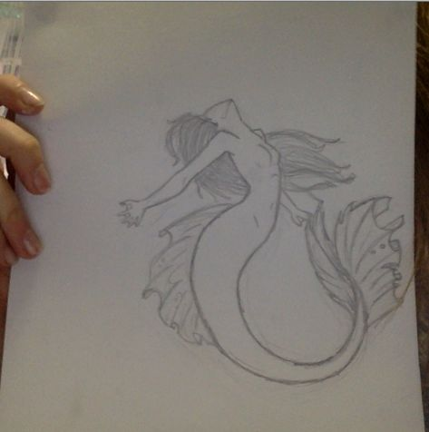 quick sketch of a mermaid