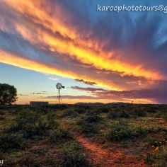Epic Windmill Sunset - Karoo on the R56 between Middelburg and Steynsburg