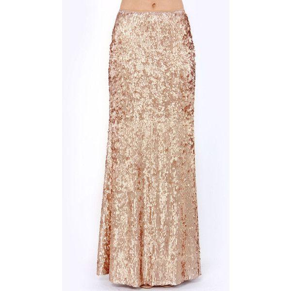 Best 25  Long sequin skirt ideas on Pinterest | Sequin maxi skirts ...