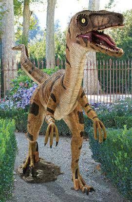Design Toscano Velociraptor Jurassic Sized Dinosaur Statue   Garden Statues  At Hayneedle