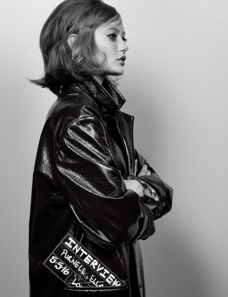 Ella Purnell,  photographed by Craig McDean for INTERVIEW, June 2016