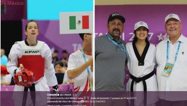 Taekwondistas logran dos medallas más para México en Taipei 2017