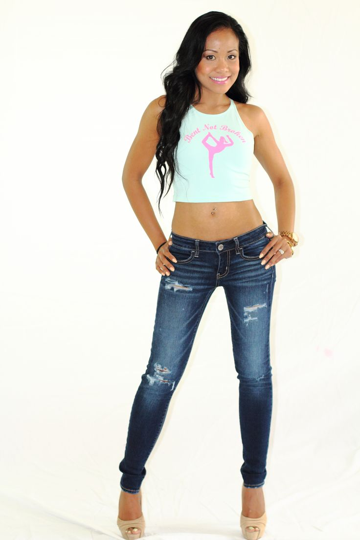 Bent Not Broken Crop (Menthe) - $20.00 | Sizes: XS, S, M, L