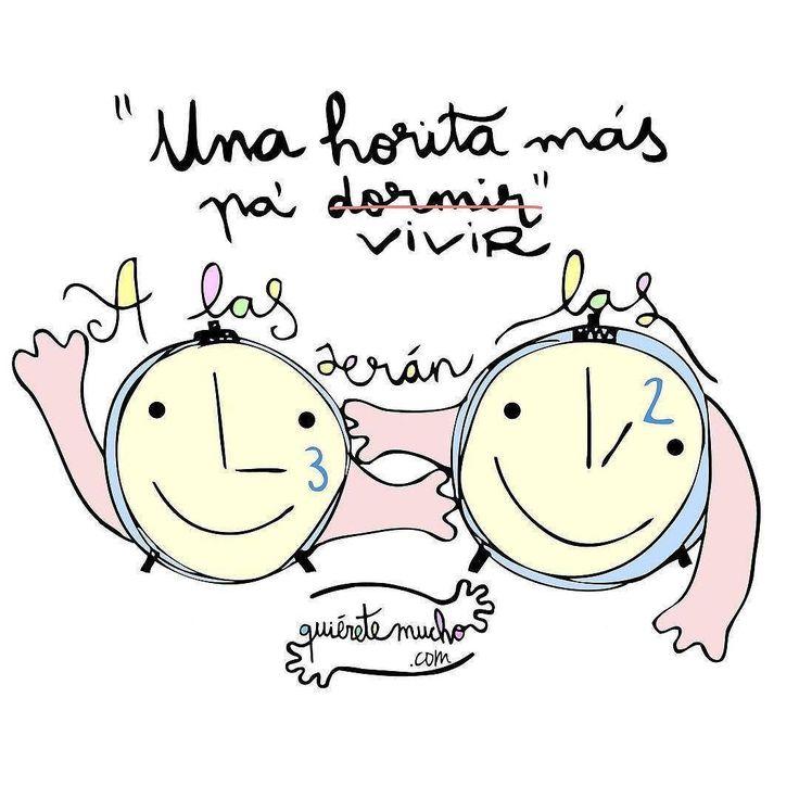 Hoy a las 3  serán las 2   Ilustración de  @quieretemucho_  #pelaeldiente  #comics #caricaturas #viñetas #graphicdesign #funny #art #ilustración #dibujos #humor #artistas #creatividad #illustrator #painting #feliz #artwork #draw #diseño #doodle #cartoon #amor #sonrisa #horariodeinverno #cambiodehorario