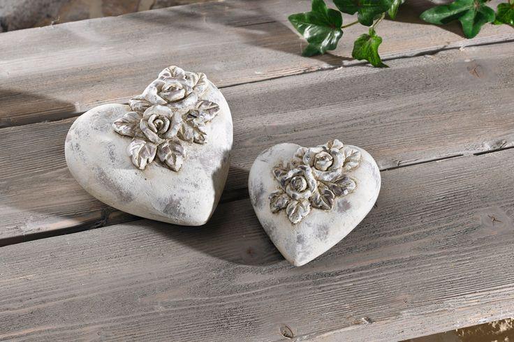 Deko-Herz  - rose aus stein deko
