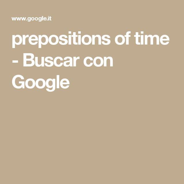 prepositions of time - Buscar con Google