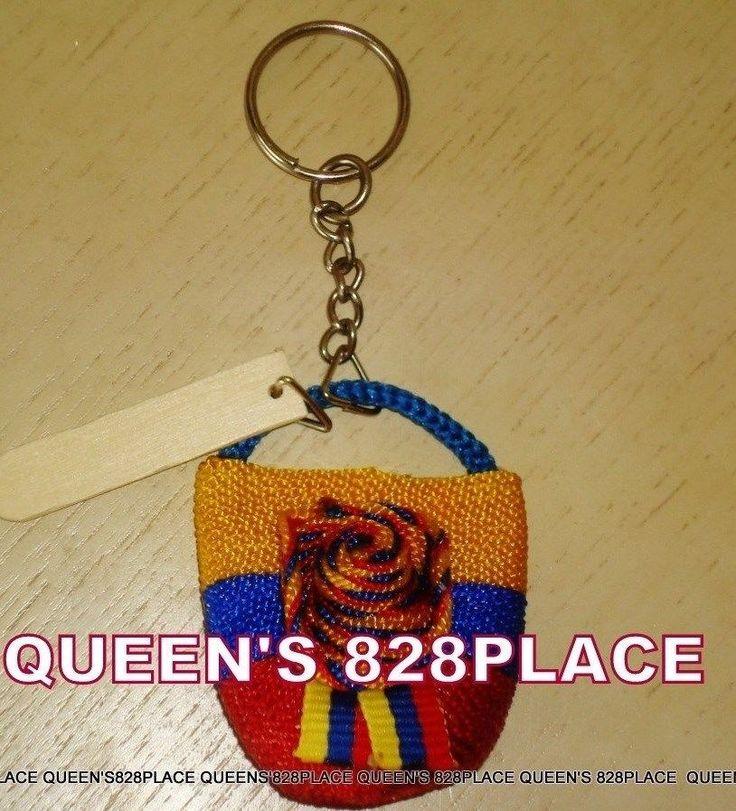 Colombia Sombrero Vueltiao Key Chain Colombian Llavero Bandera NEW Handmade #Handmade