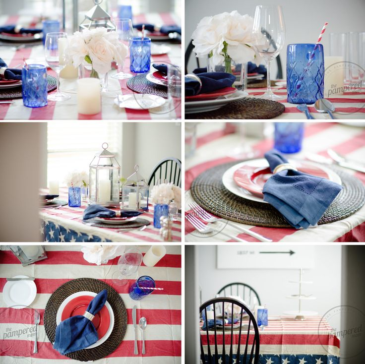 Independence Day Inspiration via The Pampered Mom #fourthofjuly #independenceday #4thofjuly #tablescape #thepamperedmom #teamimhoff #holiday #fireworks   http://www.teamimhoff.com/2015/06/independence-day-inspiration-via_30.html