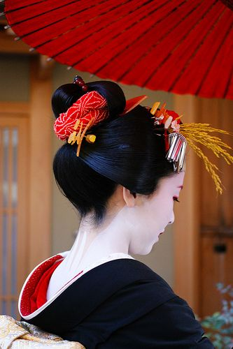 "Geisha-The word geisha literally means ""artist"" and late in the eighteenth century this could have described an array of Japanese women artists: Shiro, purely an entertainer; kerobi, a tumbling geisha; kido, a geisha who stood at the entrance to carnivals; or joro, a prostitute and the type of woman that professional geishas have been wrongly mistaken as for many years"