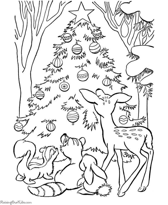 christmas coloring pages free - Google Search